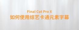 【YAKFX原创录制FCPX教程】Final Cut Pro X 中文教程:(0041)如何使用YAKFX综艺卡通元素字幕教程
