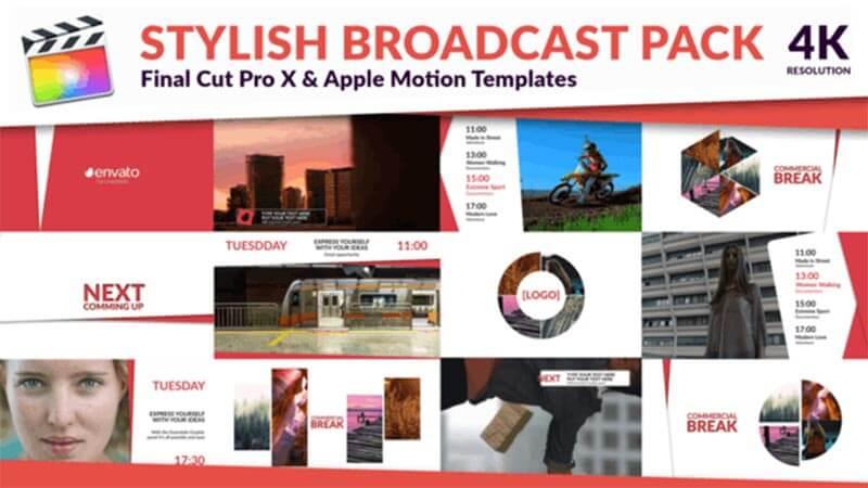 FCPX插件Clean TV现代简洁风格节目包装动画预设