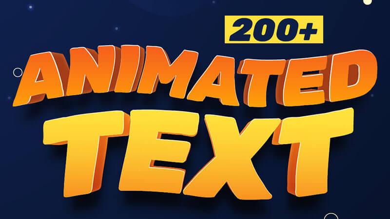 FCPX插件Animated Text模糊弹跳闪烁干扰旋转字幕标题动画预设205个